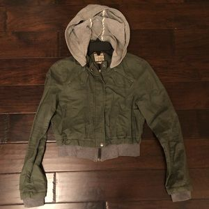 free people army green jacket size 2